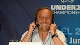 O Presidente da UEFA, Michel Platini, destacou os esforços excepcionais de Israel na organização da fase final dos Sub-21