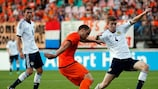 Luc Castaignos scores the Netherlands' second goal