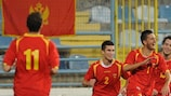 Marko Vukčević (No7) hit the opener to send Montenegro on their way to successive wins