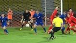 Защита сборной Молдовы во главе с вратарем Алексеем Кошелевым старалась на славу