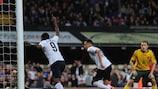 Ravel Morrison (2R) of England celebrates after scoring the opening goal