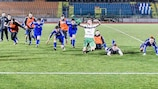San Marino celebrate after sealing a goalless draw against Finland