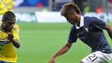 Kingsley Coman scored twice in France's opening win against Azerbaijan