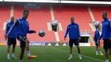 Dänemark am Dienstag im Training