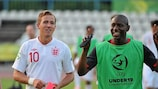 Benik Afobe (right) played with Harry Kane at the U19 finals in 2012