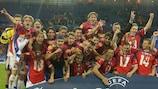 I cechi festeggiano la vittoria 2002