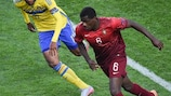 William Carvalho (right) in action in the final