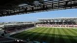 L'AEL FC Arena, à Larissa (Grèce), lieu de la première demi-finale entre la Russie et la Grèce, jeudi 16 juillet