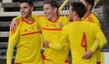 O País de Gales festeja um golo frente ao Luxemburgo