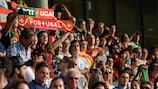 Portugal fans watch their team in Germany