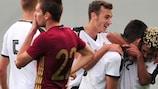 Austria celebrate a goal in qualifying