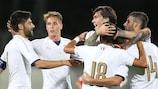 Italy's Under-21s celebrate a goal in 2016/17 qualifying
