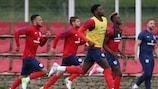 Сборная Англии готовится к пятничному матчу со шведами