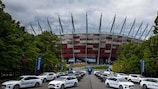 A frota Hyundai Motor para o Campeonato da Europa de Sub-21 de 2017 da UEFA, na Polónia
