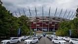 Die Hyundai-Motor-Flotte bei der U21-EURO in Polen