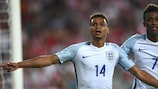 Jacob Murphy after scoring England's second in Kielce