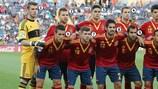 Сборная Испании перед полуфинальным матчем молодежного ЕВРО-2013 в Израиле