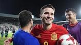 Saúl Ñíguez with the match ball after Tuesday's semi-final