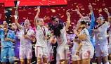 Spain lift the trophy