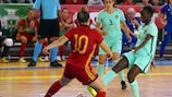 Hosts Portugal in action against Spain