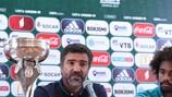O seleccionador de Portugal, Hélio Sousa (à esquerda), e o capitão Bruno Paz