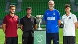 Da esquerda para a direita: Diogo Queirós e Hélio Sousa (Portugal); Paolo Nicolato e Davide Bettella (Itália)