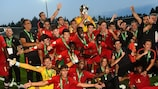 Portugal enjoy their Under-19 EURO triumph