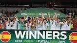 España gana el primer Europeo sub-19 de fútbol sala
