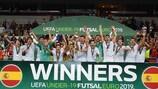 Espanha conquista primeiro Futsal EURO Sub-19