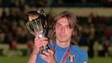 Andrea Pirlo venceu o Campeonato da Europa de Sub-21 com a Itália em 2000