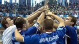 Castellón lift the trophy