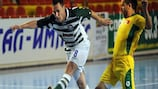Zelezarec (in green) topped Group E on goal difference