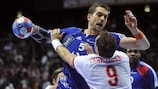 Action from the 2009 World Men's Handball Championship at the Spaladium Arena in Split
