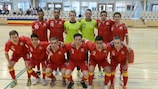 The pioneering Wales futsal squad