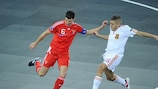 Spain's Miguelín and Russia's Sergei Sergeev could meet again in the last eight after both won their groups