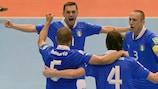 A Itália festeja a vitória sobre o Egipto na Tailândia