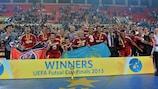 Los jugadores del Kairat Almaty celebran la victoria