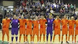 The Netherlands qualified with just 78 seconds remaining of their match