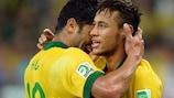 Neymar and Hulk promote futsal benefits