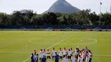 Um treino da Holanda no Rio de Janeiro