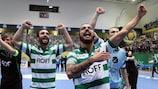 Sporting celebrate qualification