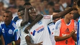 Giannelli Imbula celebrates one of his four league goals for Marseille