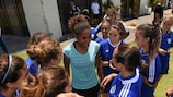 Laura Georges meets the players