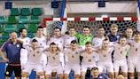 A Letónia festeja o apuramento para a ronda principal