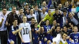 O Cazaquistão comemora a primeira qualificação na zona europeia da sua história
