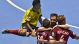 Португальцы празднуют гол в ворота сборной Колумбии