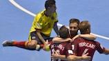 Portugal celebra su empate ante Colombia en el último segundo