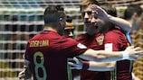 Rússia celebra vitória sobre a Espanha