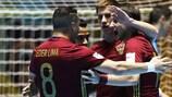 La Russia festeggia la vittoria contro la Spagna
