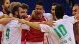 Athina '90 nach dem Sieg gegen Military Futsal Team in der Vorrunde